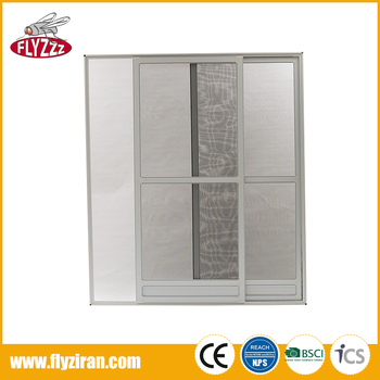 New arrival invisible mosquito net security mesh sliding fly screen door