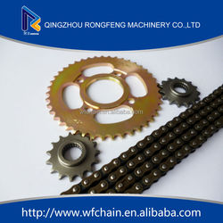 High quality thailand motorcycle parts chain sprocket