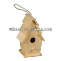 1015,Wooden Bird House ,Wooden Birch Cage