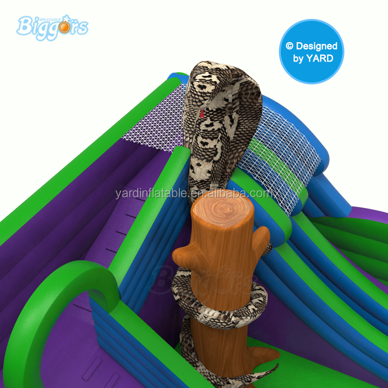 New Design Giant Jungle Inflatable Fun City Bounce House Castle Jumping Playground Combo For Kids