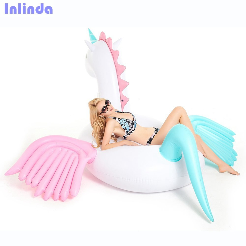 Giant Inflatable Unicorn Pool Float Swimming Pool Floatie Toy For Adults and Kids