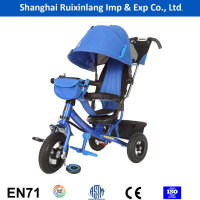 cheap high quality EU standard baby tricycle/kids tricycle with air tire