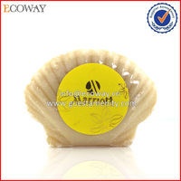 new design shell shaped hotel bath soap packing disposable hand made soap