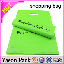 YASON new style bio-degradable shopping bags cheap plastic t shirt shopping printing custom printed frosted shopping bag