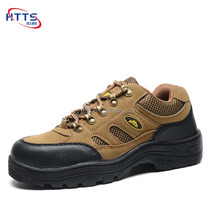 Cheap Price Brown Suede Leather Low Cut Labor Insurance Safety Shoes