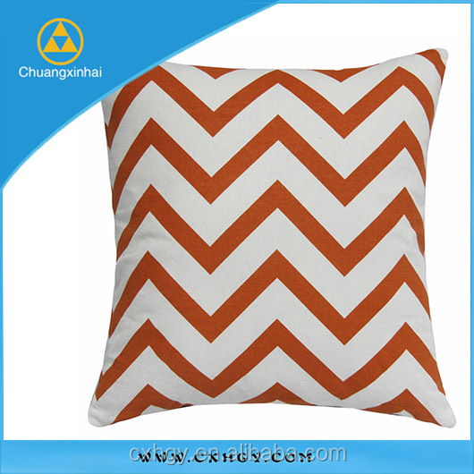 Promotional 45x45cm Home Decoration Chevron Outdoor Cushion/Sofa Pillow