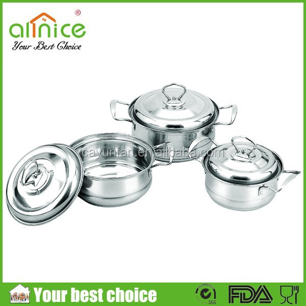 Africa HOT SELLING 4pcs stainless steel casserole set / indian hot pot / kitchen cooking ware