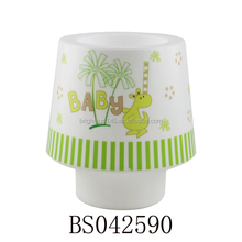 Round Shape Decorative Plastic Cartoon Table Lamp For Bedside Light