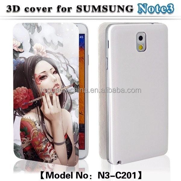 Digital flip case 3d printer for Samsung galaxy not3 battery cover case
