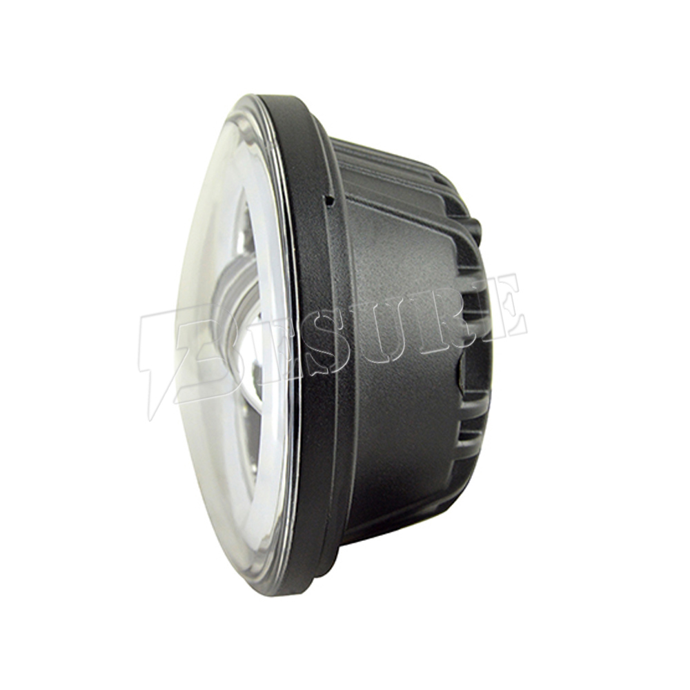 Acrylic White Halo Cover Fog Light Projector High Brightness Ring 4.5 inch 30W Passing Light With Angel Eye 12V 24V For Harley