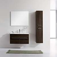 Wall Mounted knock down french cabinet bathroom vanity cabinet tops