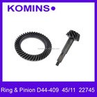 High Quality factory Price D44 44/9 Jeep Ring and Pinion Gears, D44-489