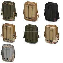 Universal Small Military Army Bag Utility Camouflage Canvas Tactical Pouch For Ammo / Phone