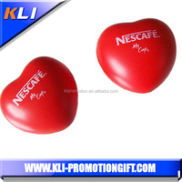 heart shaped PU foam stress ball ,custom beach ball