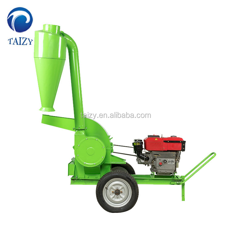 Diesel hammer mill grain corn crusher