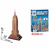 America Empire State Building 3d Jigsaw educational cardboard puzzle