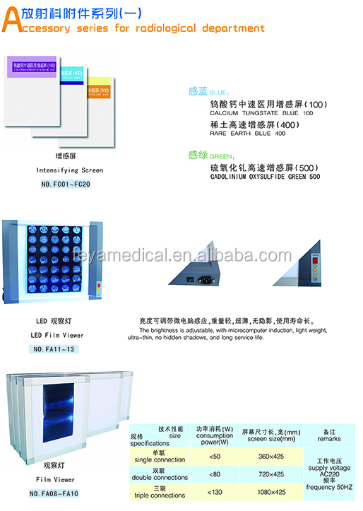 Best Sale LED x-ray Film Viewer Medical Intensifying Screen Price