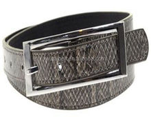2017 Yiwu manufacturer snake skin belt with pin buckle