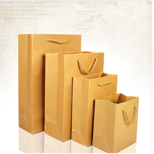 Present Cosmetics Jewelry Retro Paper Handle Pocket Fashionable Giftware Kraft Paper Shopping Bag