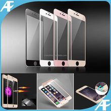 for 2016 Newest Apple!! 0.3mm 3D full size anti-bubble anti-shock mobile phone tempered glass screen protector for iPhone7