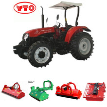 70HP 4WD YTO X704 tractor with implements
