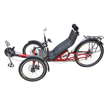 20 inch Two Front Wheels Rear Suspension Recumbent Tricycle