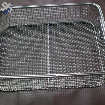 small round receivables industrial stainless steel wire mesh basket for hydroponics