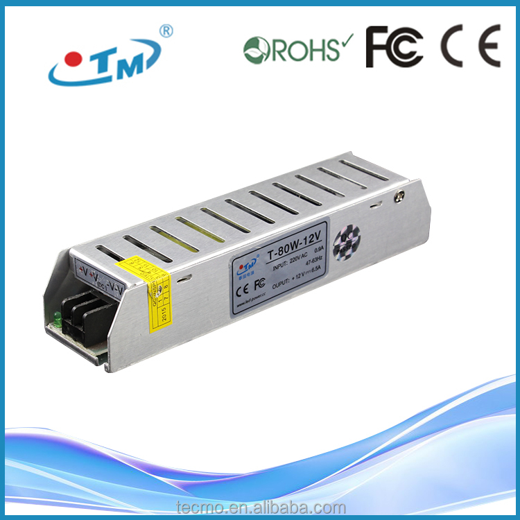 80W 12V digital tv converter set top box power supply With CE RoHS FCC