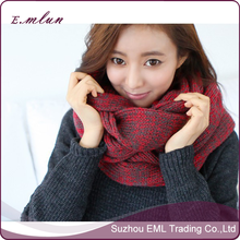 New arrival winter thick knnited lady scarf for woman