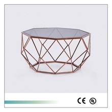Goolee Ornate Modern Stainless Steel End Table With Glass Top