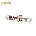 Automatic high speed side door panel shrink machine