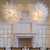 Contemporary custom made Hand blown modern white murano glass chandelier