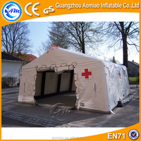 Outdoor inflatable tent, durable portable inflatable medical tent for emergency