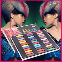 2015 High Quality passed MSDS colorful hair color temporary soft pastel chalk for hair in hair dye