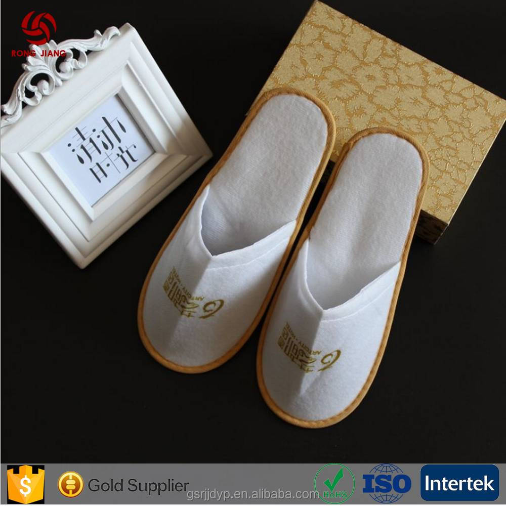 customized hign quality white anti-slip coral fleece open toe slipper
