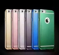 Ultra-thin Matte TPU Case for iphone 6 mobile phone cover electroplating armor case