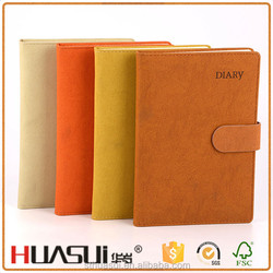 China suppliers cheap custom waterproof a5 pu leather notebook cover