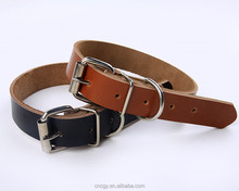 2016 New Design colorful Soft Real Leather Dog Collars Products for dogs