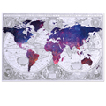 World Map Picture Printed on Canvas HD Photo Canvas Art Ready to Hang Framed Canvas Printing Home Decoration