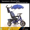 2016 New Luxury Metal Frame Children Tricycle With Canopy /baby Tricycle 4 In 1/cheap Kid Tricycle With Round Roated