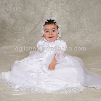 gorgeous floral length lace overlay embroidered white satin christening gowns