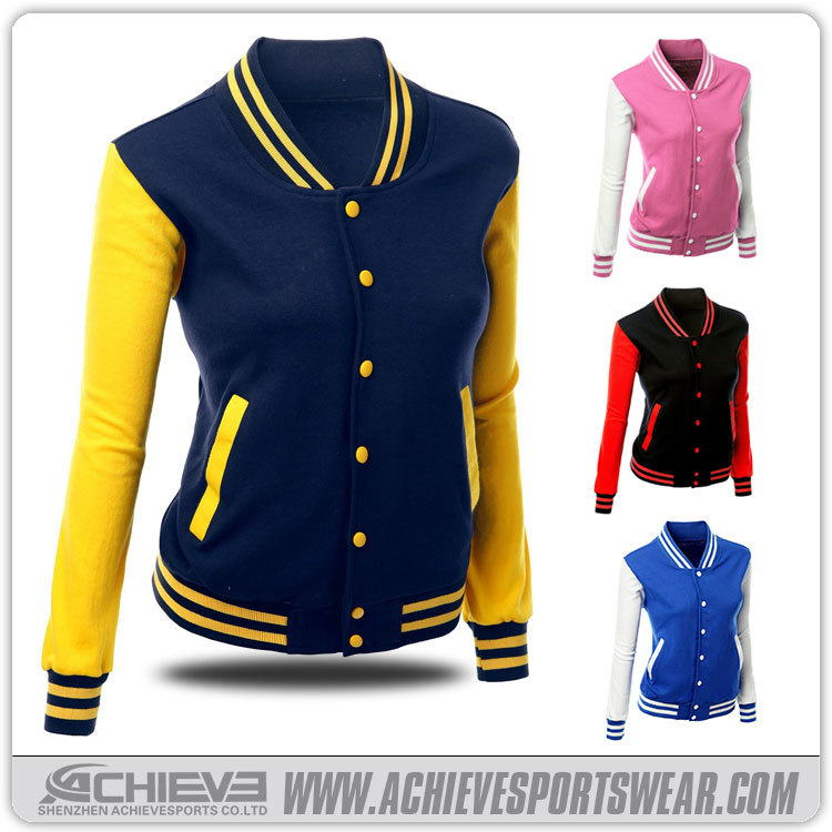 Unisex/mens/womans Varsity Custom Baseball Jacket Youth Baseball ...