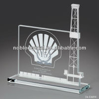 Crystal Oil Rig Platform Award Gift