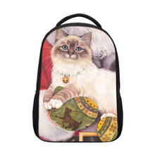 2018 <strong>fashion</strong> 600D kids animal small rucksack backpack cute colorful cat head laptop backpack for children
