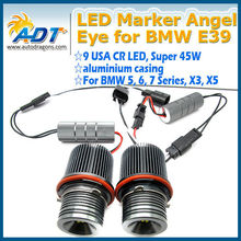 NEW arrivals!!! E39 power 90W CANBUS CR LED angel eye headlights for BMW X3 X5 5/6/7 series from china supplier Waterproof