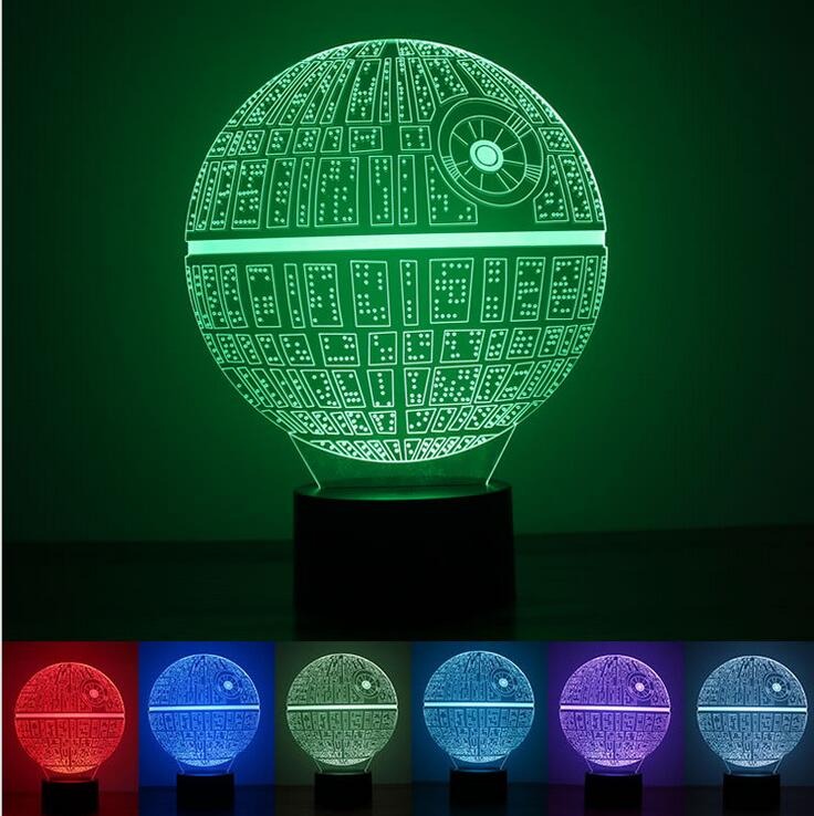 3D Novelty Light lampada led Death Star Table Lamp 3D Bulbing Light Touch Lava Lamp night light baby Figure Kids Gif