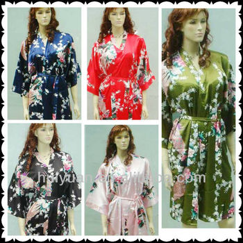 Wholesales Stock Woman Sleepwear / Kimono Bathrobe