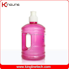 Customized logo 600ml plastic any color hot wholesale water jug with handle (KL-8002)