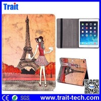 Cheap Side Flip Stand PC+ PU Leather Case for iPad Air (iPad 5) with Elastic Belt
