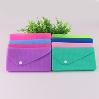 New Designer Brand Silicone Coin Wallet Candy Color Silicone Rubber Hand Purse for Women